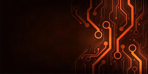 Diseño en el concepto de placas de circuitos electrónicos. Vector Premium