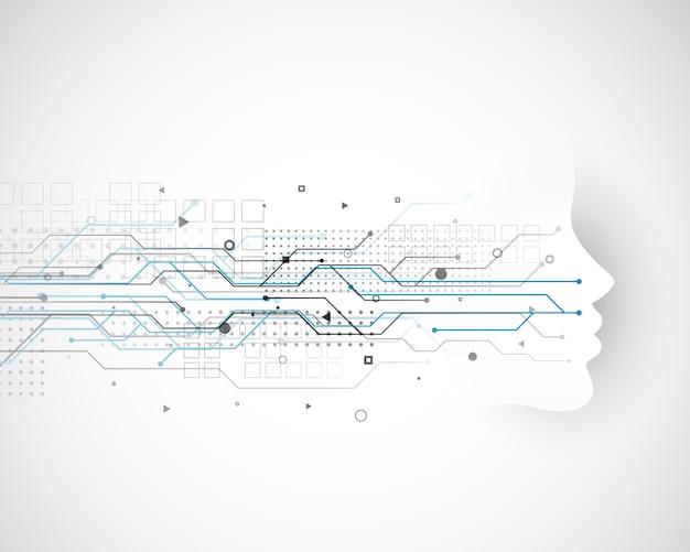 Diseño de concepto de tecnología cibernética vector gratuito