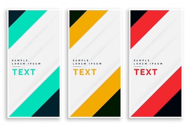 Diseño de conjunto de banners de negocio de vertival vector gratuito