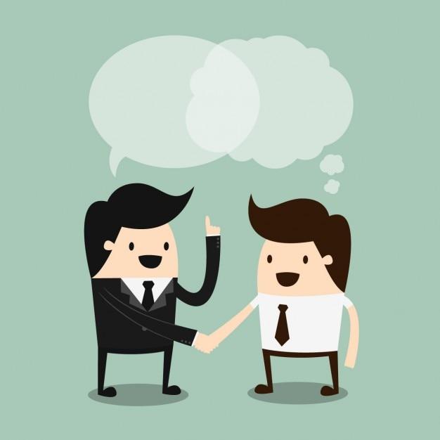 Diseño de conversación de negocios vector gratuito
