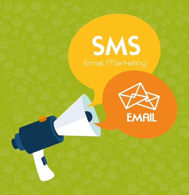 Diseño de correo electrónico Vector Premium