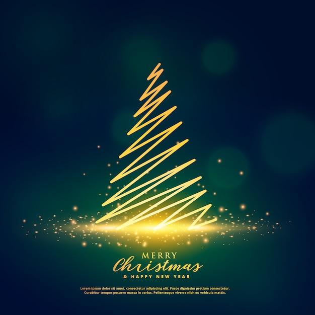 Dise o creativo del rbol de navidad en brillantes - Arbol de navidad diseno ...