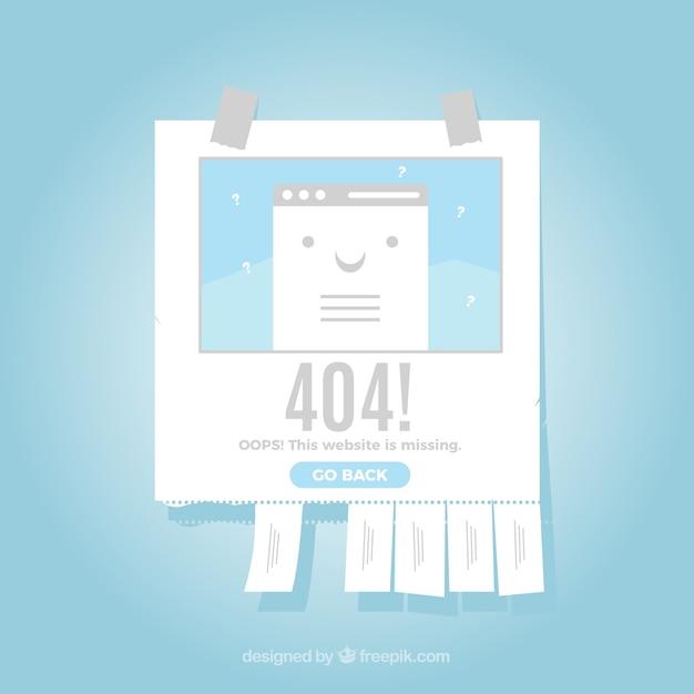 Diseño creativo de error 404 vector gratuito