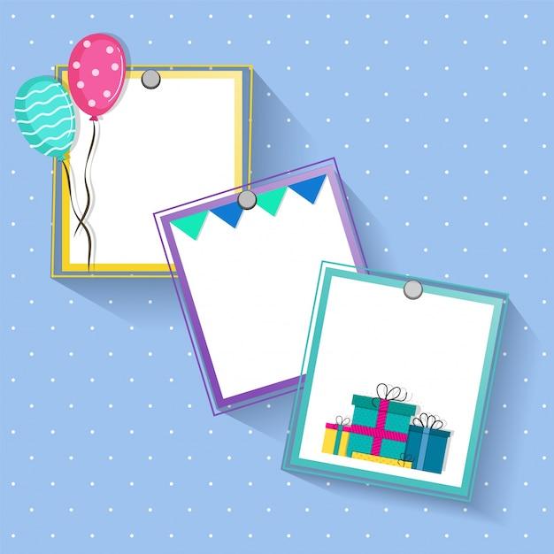 Diseño Creativo De Los Marcos Para Las Celebraciones Del Cumpleaños
