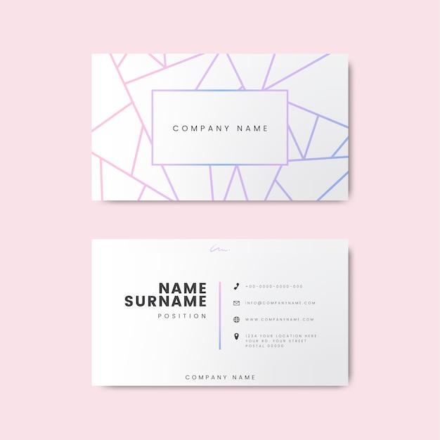 Diseño creativo y minimalista de tarjetas de visita con formas geométricas. vector gratuito