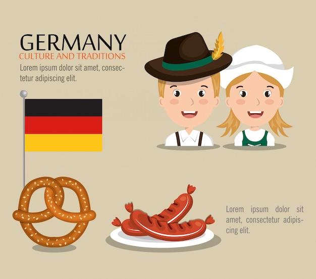 Diseño de la cultura alemana vector gratuito