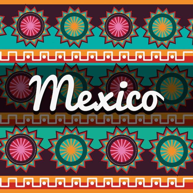 Diseño de la cultura mexicana Vector Premium