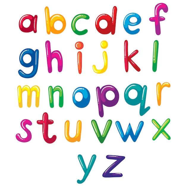 Dise o de abecedario a color descargar vectores gratis - Lettres alphabet originales ...
