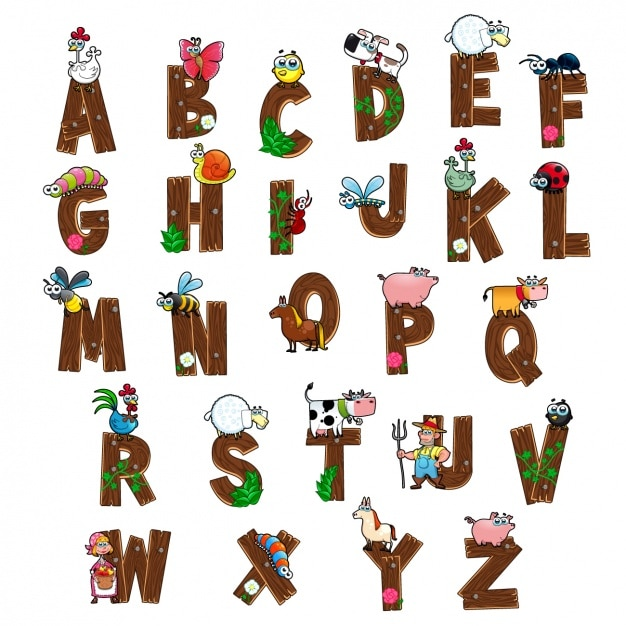 Diseño de alfabeto a color Vector Gratis