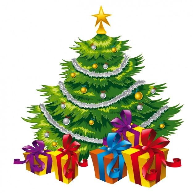 Dise o de rbol de navidad descargar vectores gratis - Arbol de navidad diseno ...