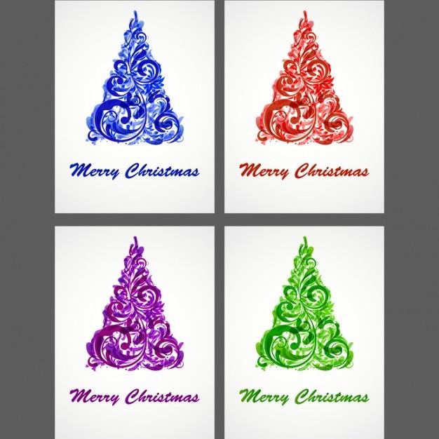Dise o de rboles de navidad descargar vectores gratis - Diseno de arboles de navidad ...