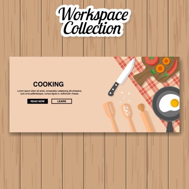 Diseño de banner de cocina | Descargar Vectores gratis