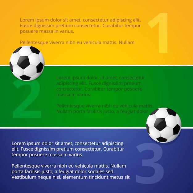 Diseño de banners de fútbol en colores de brasil | Descargar ...