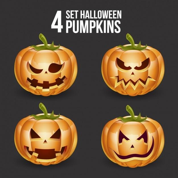 Dise o de calabazas de halloween descargar vectores gratis - Disenos de calabazas de halloween ...