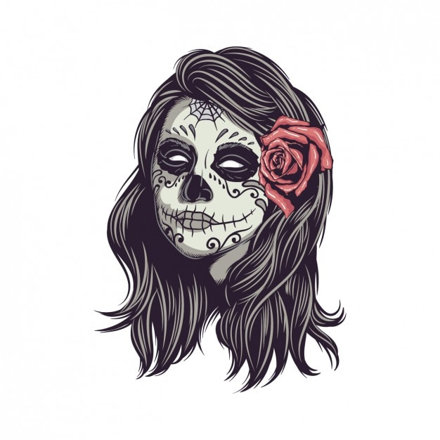 Dise o de calavera mexicana descargar vectores gratis for Teschi messicani femminili