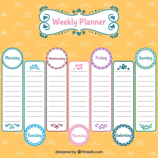Diseño de calendario semanal | Descargar Vectores gratis