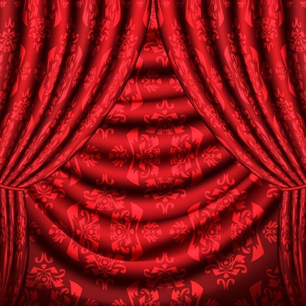 diseo de cortinas rojas vector gratis