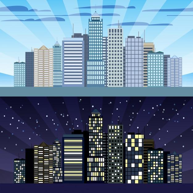 Dise o de edificios de ciudad descargar vectores gratis for Diseno de edificios
