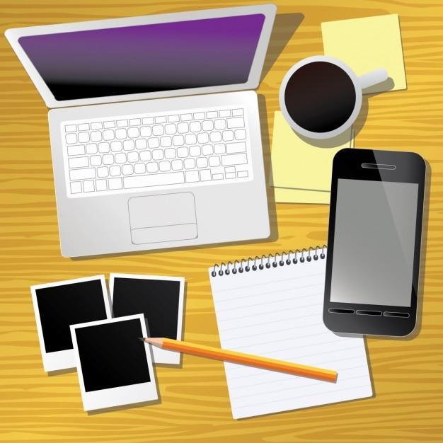 Dise o de elementos de oficina descargar vectores gratis for Programa de diseno de oficinas gratis