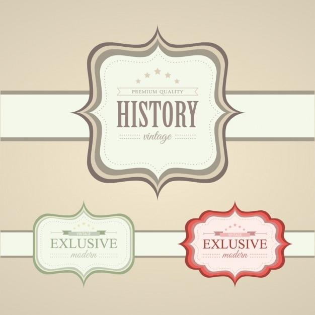Dise o de etiquetas vintage descargar vectores gratis for Diseno de etiquetas