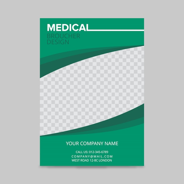 Diseño de folleto médico Vector Gratis