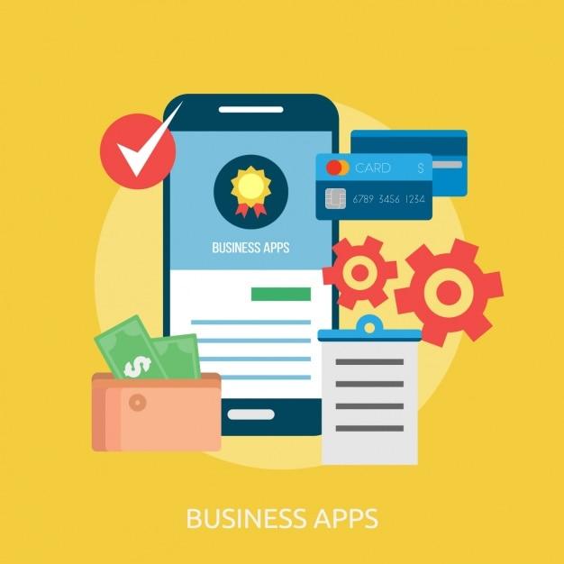 Dise o de fondo de aplicaciones de negocios descargar for Aplicacion diseno de interiores gratis