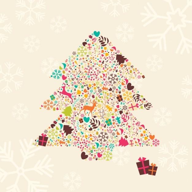 Dise o de fondo de rbol de navidad descargar vectores premium Disenos de arboles de navidad