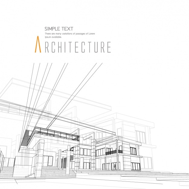 Dise o de fondo de arquitectura descargar vectores gratis for Interior design services plano