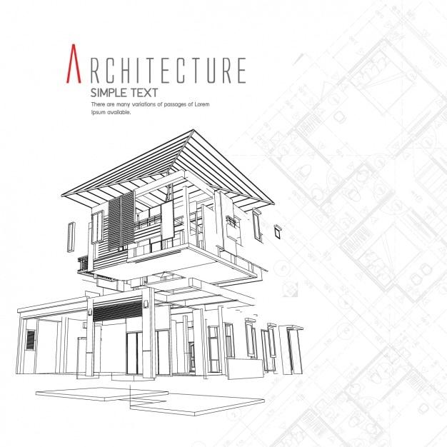 Dise o de fondo de arquitectura descargar vectores gratis for Architecture design tools free