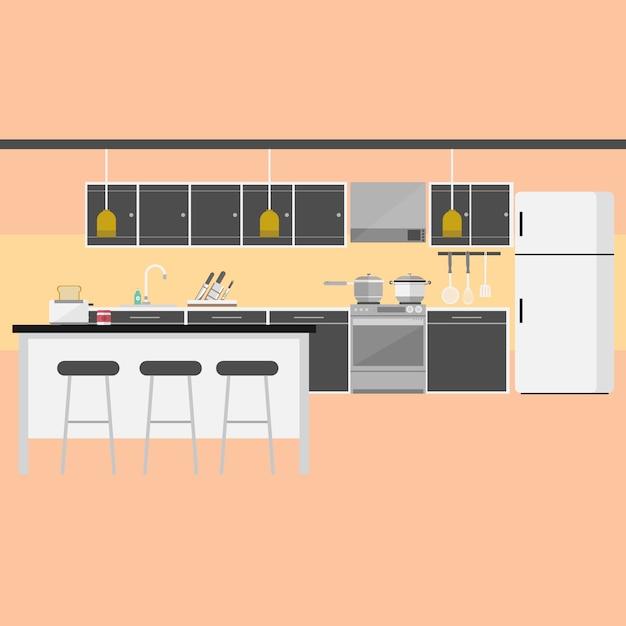 Dise o de fondo de cocina descargar vectores gratis for Diseno de cocinas gratis