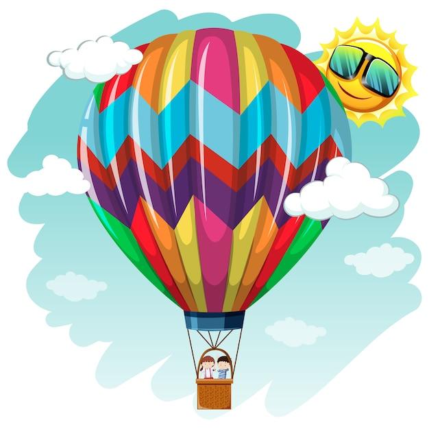 Dise o de fondo de globo aerost tico descargar vectores - Globos aerostaticos infantiles ...