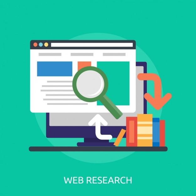 Diseño de fondo de investigación web | Descargar Vectores gratis