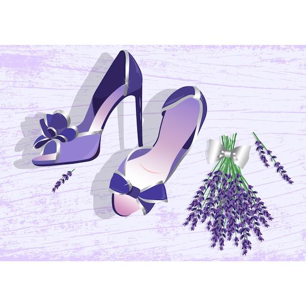 Dise o de fondo de zapatos de mujer descargar vectores for Diseno de zapatos