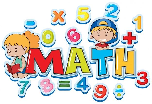Diseño De Fuente Para Matemáticas De Palabras Con Muchos
