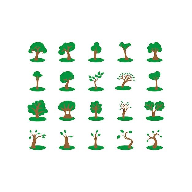 Diseño de iconos de árbol Vector Gratis