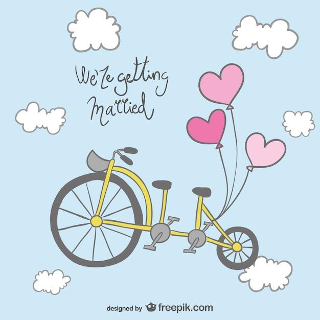 Dise o de invitaci n de boda con bicicleta descargar for Disenos para bicicletas