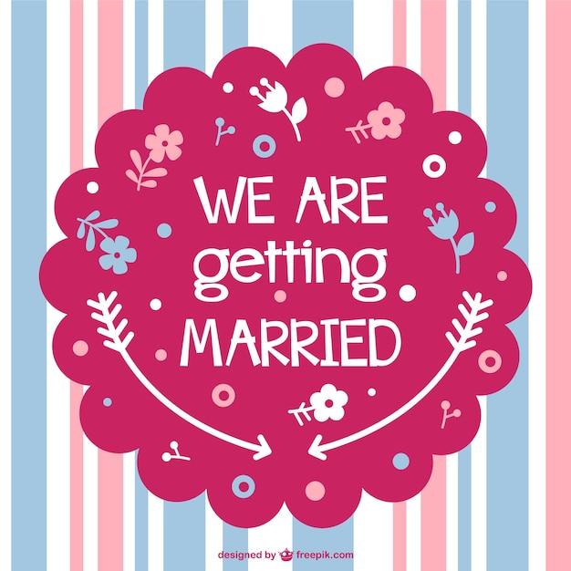 Dise o de la tarjeta de boda gratis descargar vectores - Disenos tarjetas de boda ...