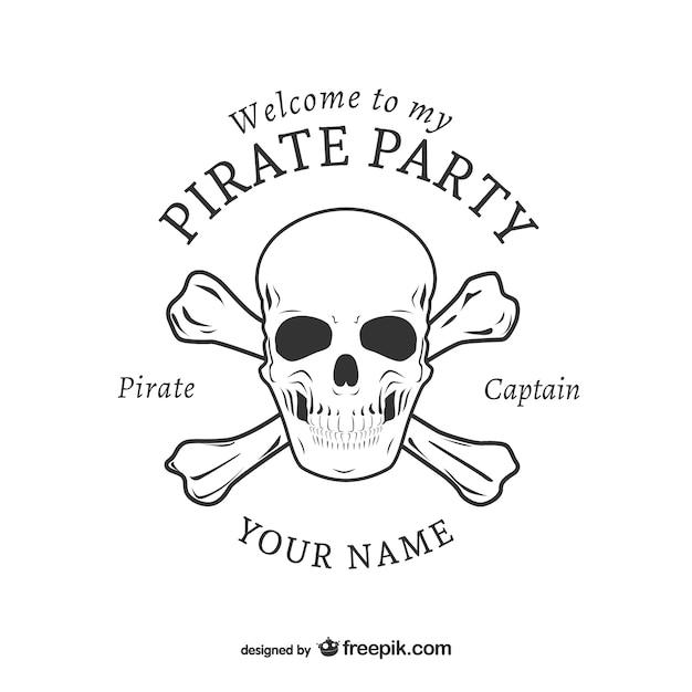 Diseño de logotipo para fiesta pirata | Descargar Vectores gratis