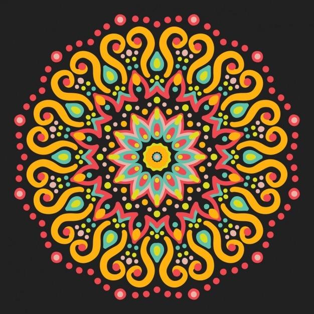 Dise o de mandala a color descargar vectores gratis for Disenos de mandalas
