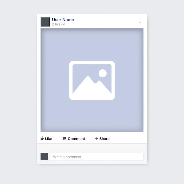 Diseño de marco de foto de redes sociales Vector Gratis