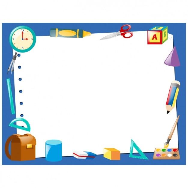 Diseño de marco de herramientas de colegio | Descargar Vectores gratis