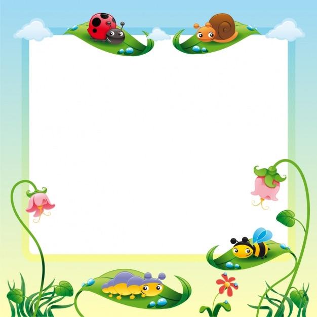 Diseño de marco de naturaleza | Descargar Vectores gratis