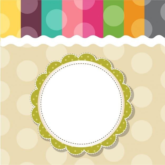 Diseño de marco de plantilla de tarjeta de felicitación infantil ...