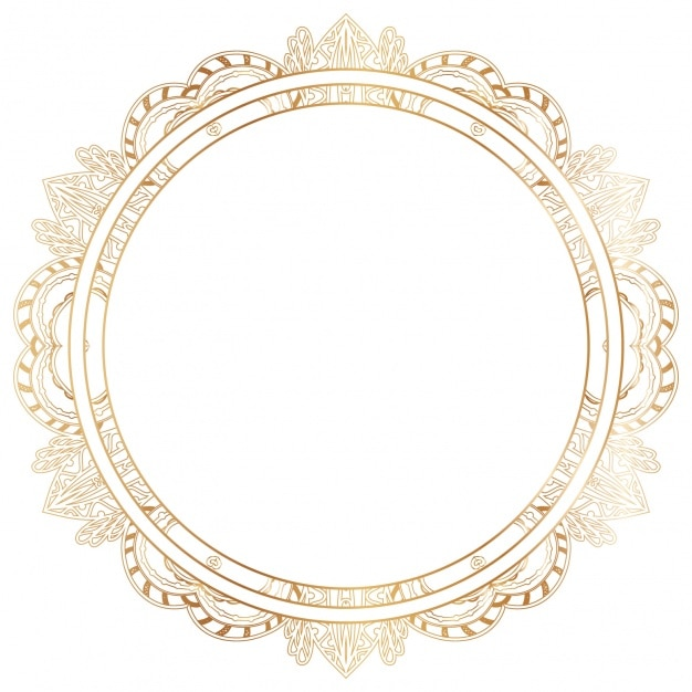 Dise o de marco dorado descargar vectores gratis - Marcos de fotos dorados ...