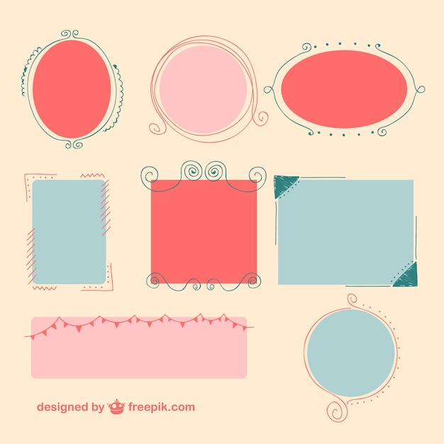 Diseño de marcos de colores | Descargar Vectores gratis