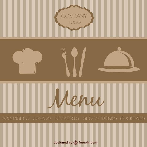 Diseño de menú de restaurante de estilo retro | Descargar Vectores ...