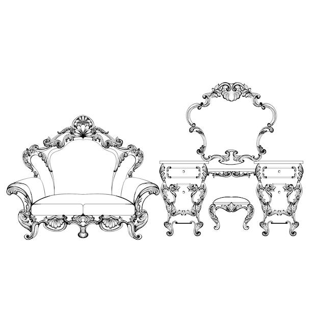 Dise o de muebles barrocos descargar vectores gratis for Software diseno muebles gratis