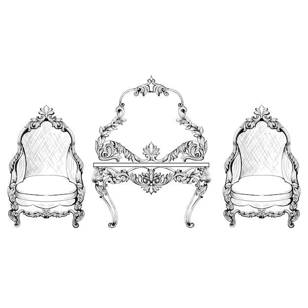 Dise o de muebles vintage descargar vectores gratis for Software diseno muebles gratis