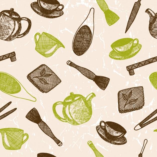 Diseño de patrón de herramientas de cocina   Descargar Vectores Premium