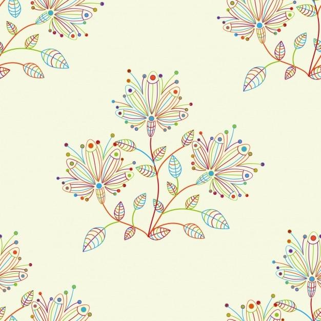 Diseño de patrón floral Vector Gratis